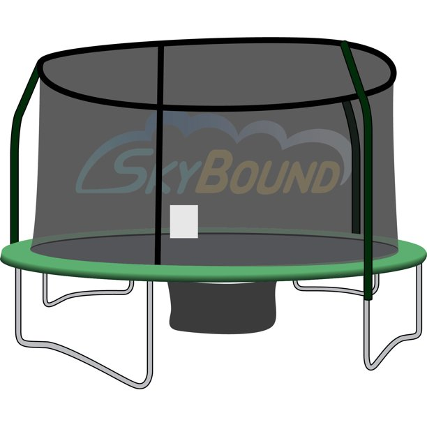 SkyBound 12-Foot Trampoline Net - Fits 4 Poles using a Top Ring