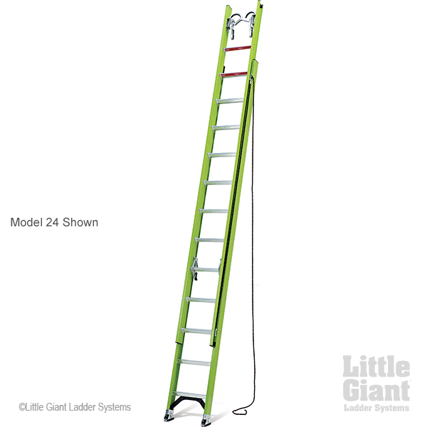 Little Giant HyperLite, 24' Type IA 300 lbs rated, fiberglass extension ladder by Wing Enterprises, Inc.