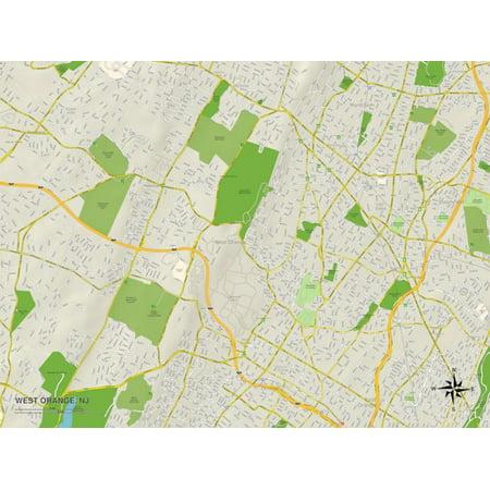 Party City West Orange Nj (Political Map of West Orange, NJ Print Wall)