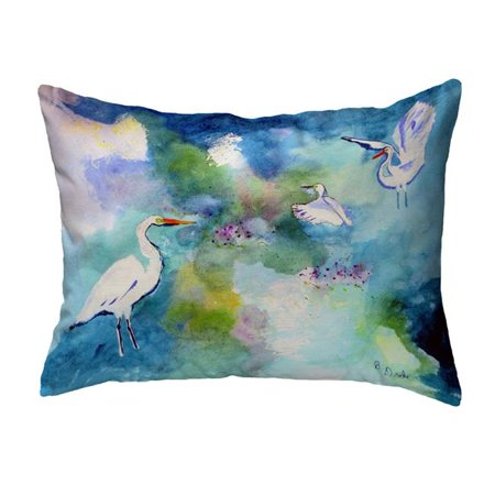 Betsy Drake KS1047 11 x 14 in. Three Egrets Non-Corded Indoor & Outdoor Pillow - image 1 de 1