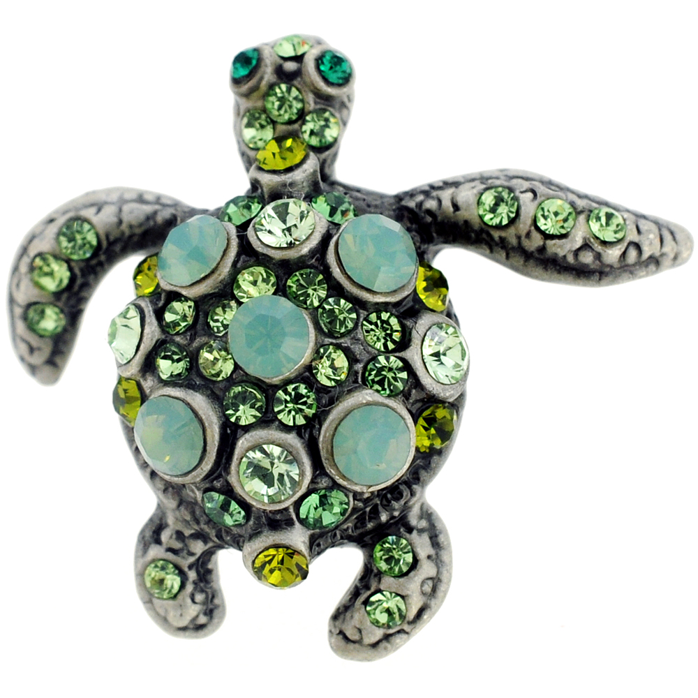 Pacific Opal Sea Turtle Lapel Pin by