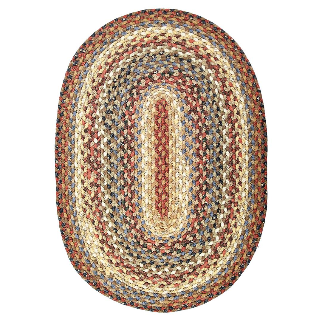 Homespice Biscotti Braided Oval Rug - (2 foot 6 inch x 6 foot)