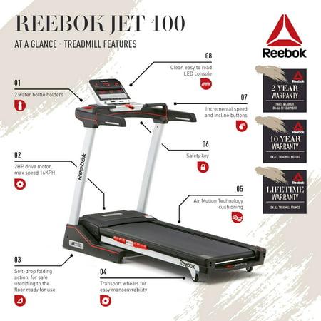 Reebok Jet 100 Series Treadmill - Walmart com