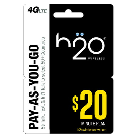H20 Wireless Pay as You Go $20 (Email Delivery)