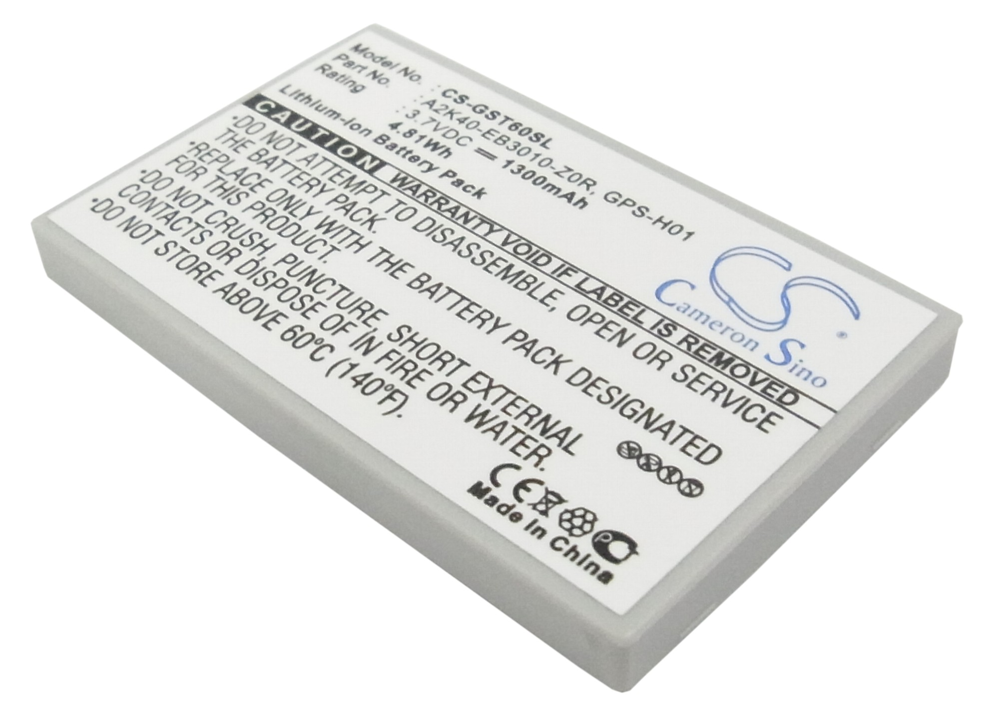 Cameron Sino 1300mAh 4.81Wh Replacement Battery for Samsung Galaxy ...