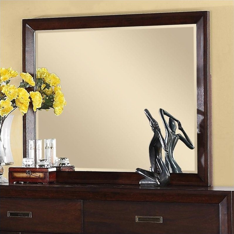 Riverside Furniture Riata Mirror in Warm Walnut