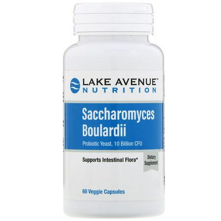 Lake Ave  Nutrition  Saccharomyces Boulardii  10 Billion CFU  60 Veggie Capsules