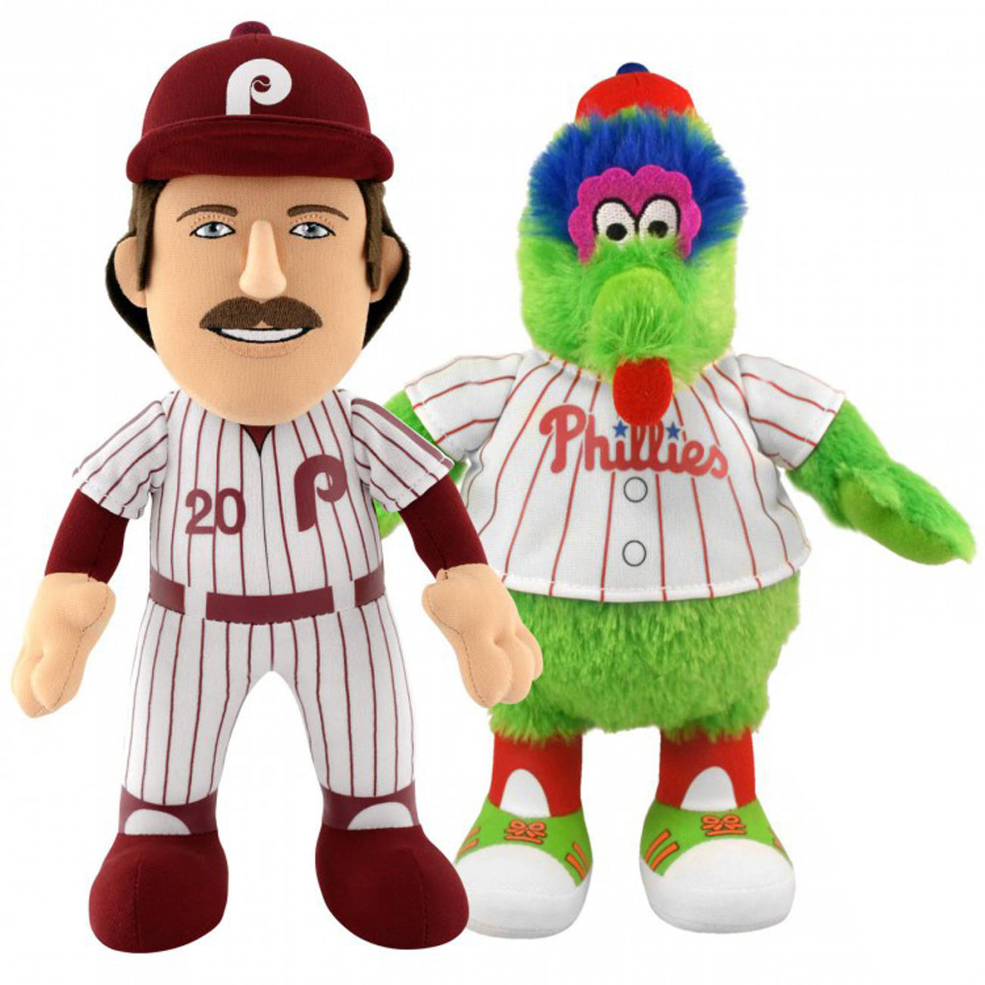 """Bleacher Creatures Dynamic Duo 10"""" Plush Figures, Phillies Mike Schmidt and Phanatic by Generic"""