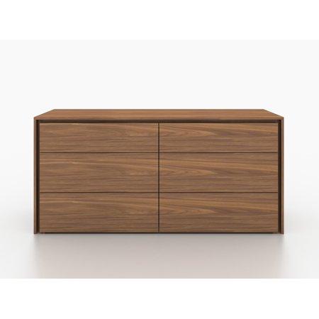 Zen Walnut Veneer Dresser By Casabianca Home