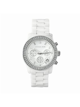 a00185e7f17d Product Image Michael Kors Women s Quartz Chronograph Crystal White Ceramic  Bracelet Watch MK5188