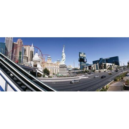 Buildings in a city New York New York Hotel MGM Casino The Strip Las Vegas Clark County Nevada USA Poster Print](Halloween City Jobs Las Vegas)