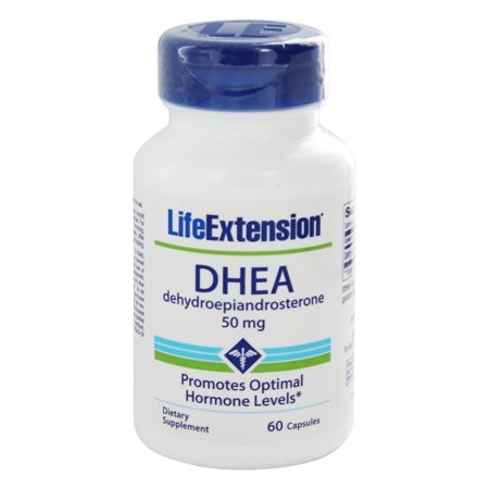 Life Extension - DHEA déhydroépiandrostérone 50 mg. - 60 Capsules