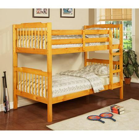 Elise Youth Bunk Bed Honey Pine Box 2 Of 2 Walmart Com