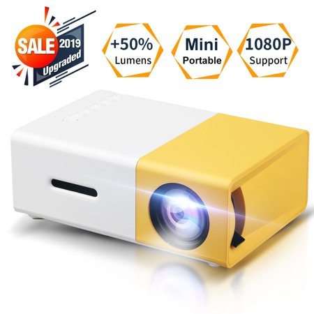 Home Theater Projector, TSV Portable LED Projector, Smartphone Pocket Projector with AV USB SD HDMI for Video/Movie/Game/Home Theater Video Projector, (Best Led Projector For Gaming)