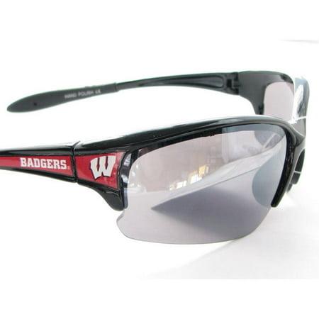 Wisconsin Badgers UW Black Red Elite Mens Sunglasses S7JT ()