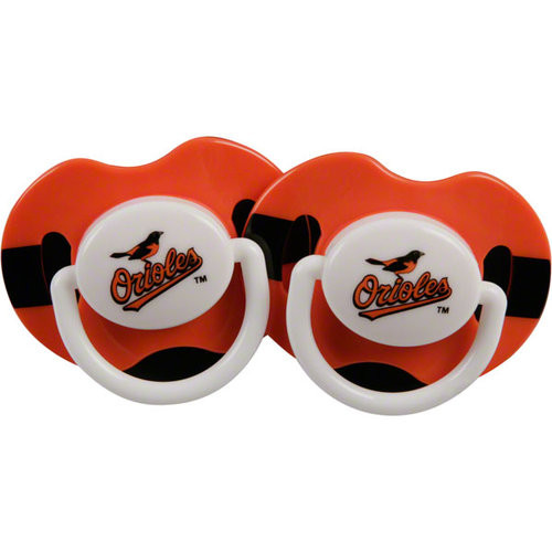 2 Pack Pink Pacifiers - Baltimore Orioles Baltimore Orioles BFBBBALPP