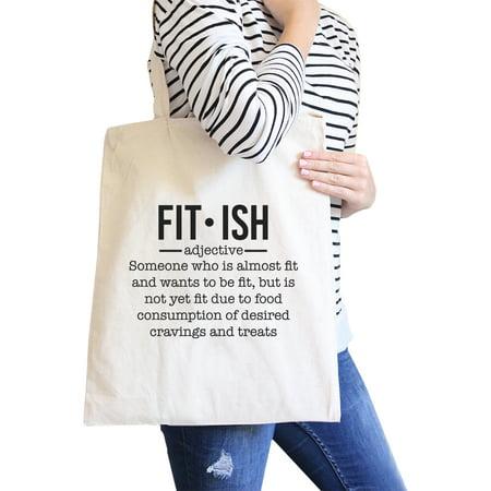 Shoulder Natural - Fit-ish Natural Canvas Shoulder Bag For Gym Fitness Workout Tote