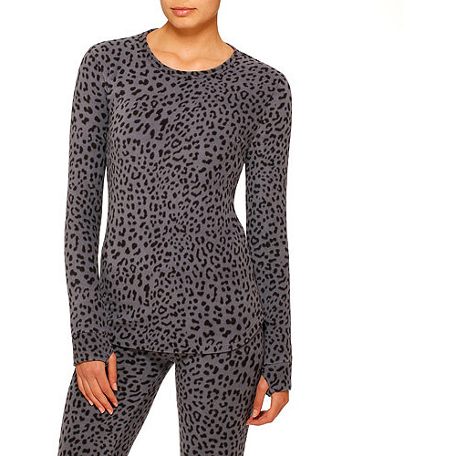 ClimateRight by Cuddl Duds Women's Stretch Fleece Warm Underwear Longsleeve Top (Sizes S-3X)
