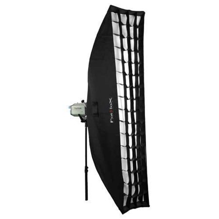 Fotodiox Pro 12x56in (30x140cm) Strip Softbox PLUS Grid (Eggcrate) for Studio Strobe/Flash with Soft Diffuser and Dedicated Speedring insert for Elinchrom Monolights Elinchrom Rotalux Square Softbox