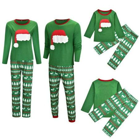 Matching Costumes For Kids (Family Matching Adult Women Kids Christmas Pyjamas Nightwear Pajamas PJs)