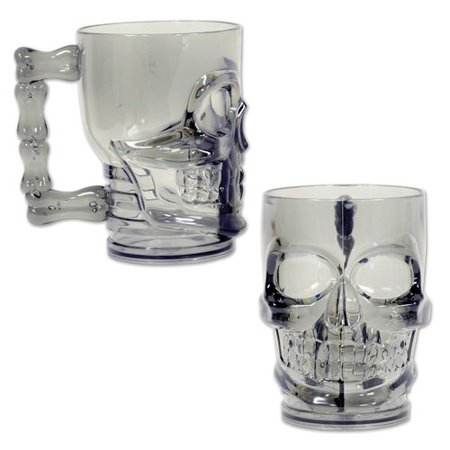 The Beistle Company Plastic Skull Coffee Mug (Set of 12)