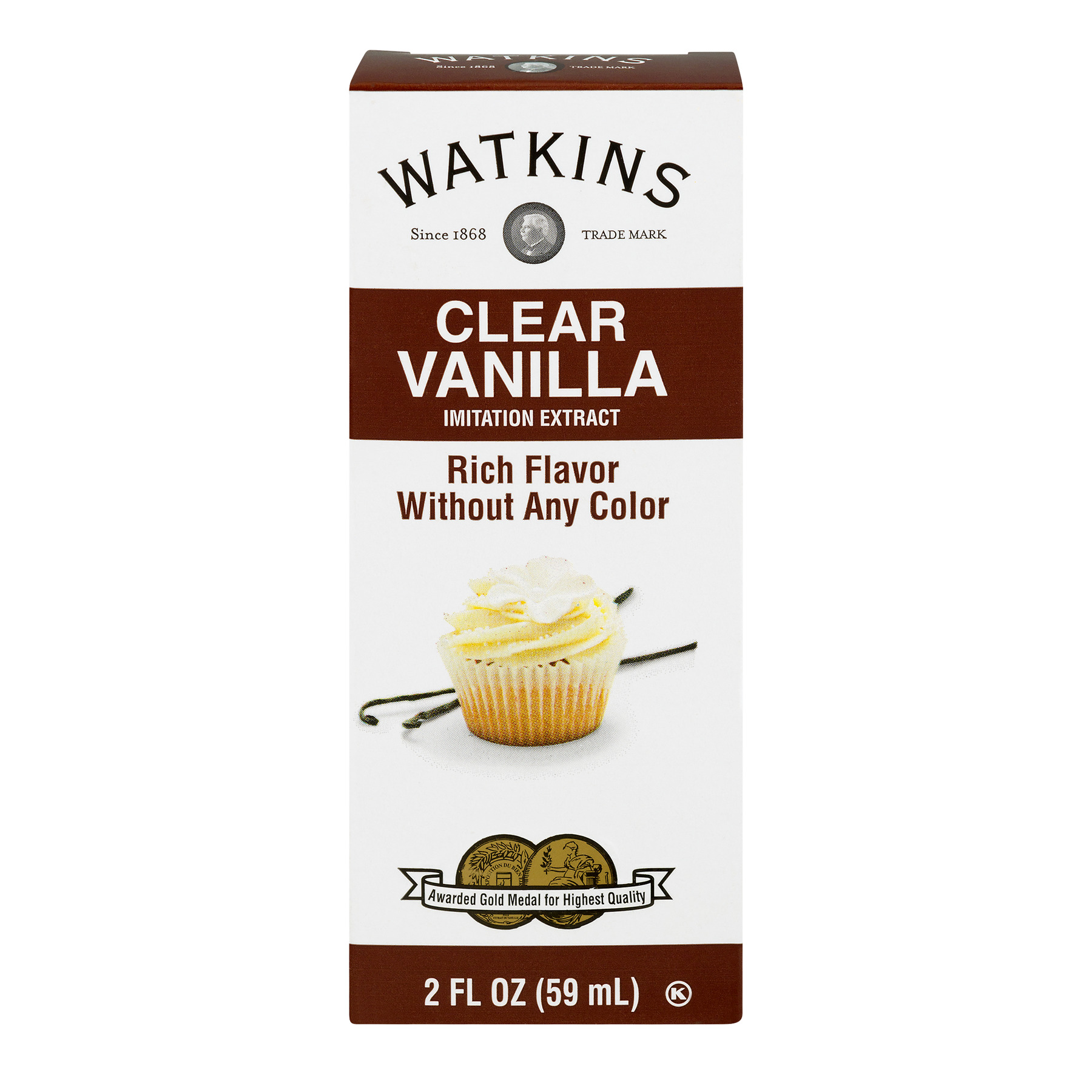(4 Pack) Watkins Imitation Clear Vanilla Extract, 2 fl oz