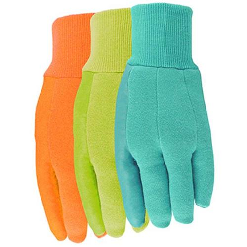 Midwest Quality Gloves 7791F6 Work Gloves, Jersey With Latex Palm, Assorted Colors, Women's One Size
