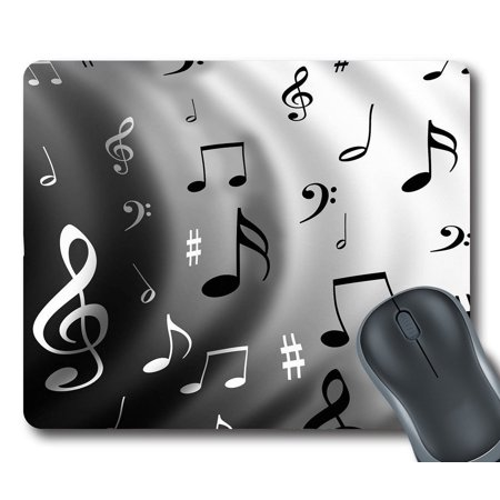 GCKG Music Notes Mouse Pad Personalized Unique Rectangle Gaming Mousepad 9.84