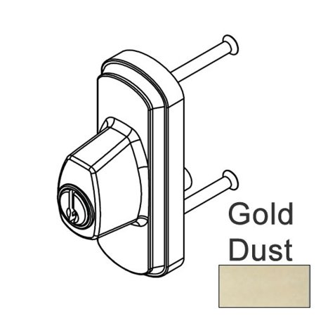 Andersen Albany Style Exterior Keyed Lock with Keys Left Hand in Gold - Left Dust