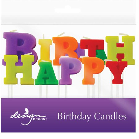 JAM Paper Birthday Candles Happy Specialty Candle Set 2 13