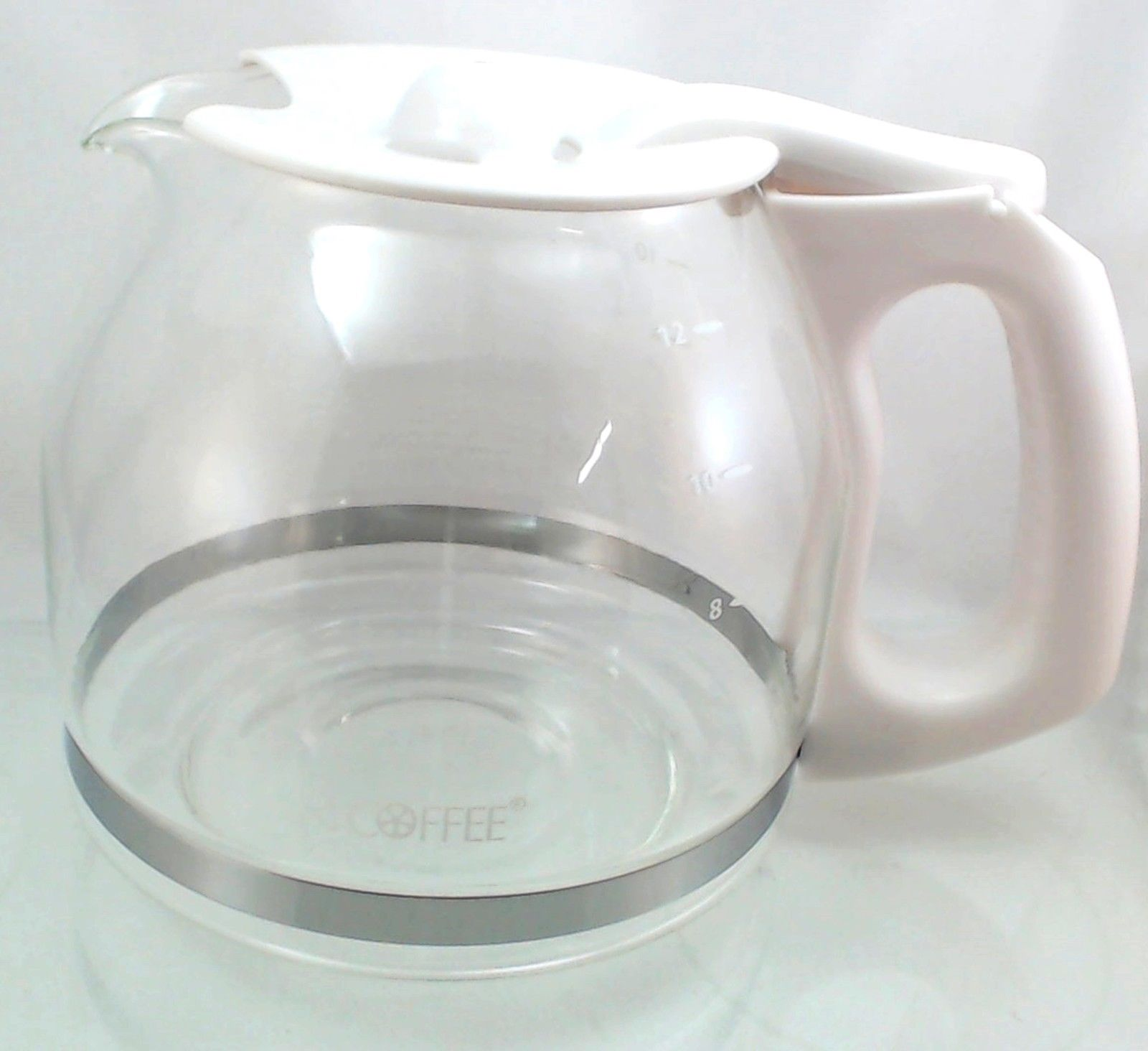 Genuine PLD13, Coffeemaker Glass Carafe, White 12 Cup fits Mr. Coffee GC12