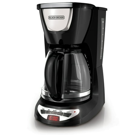 Black & Decker 12 Cup Programmable Black & Stainless Steel Coffee Maker with Glass Carafe, 1 (Black Decker Coffee Carafe)