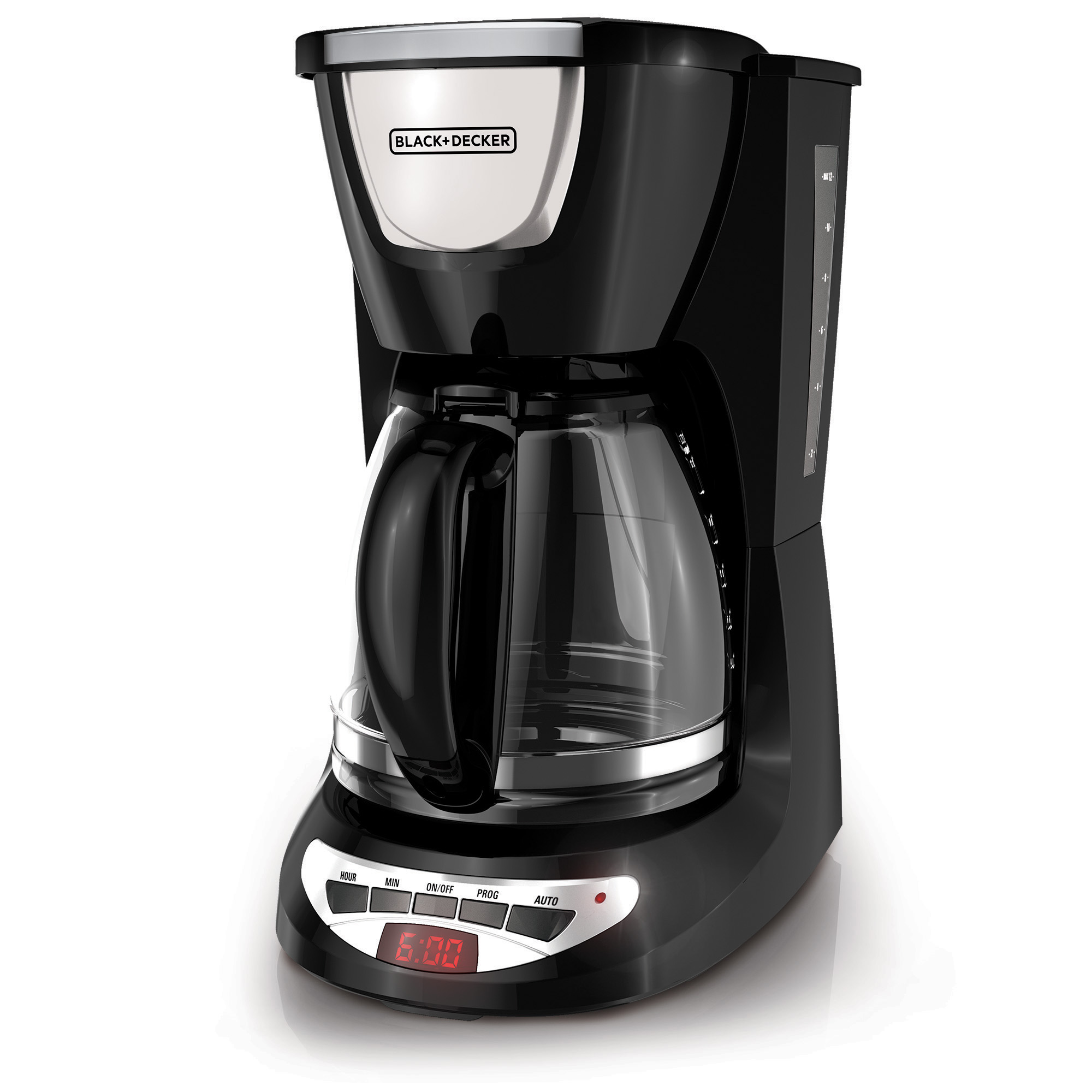 Black & Decker 12 Cup Programmable Black & Stainless Steel Coffee Maker with Glass Carafe, 1 Each