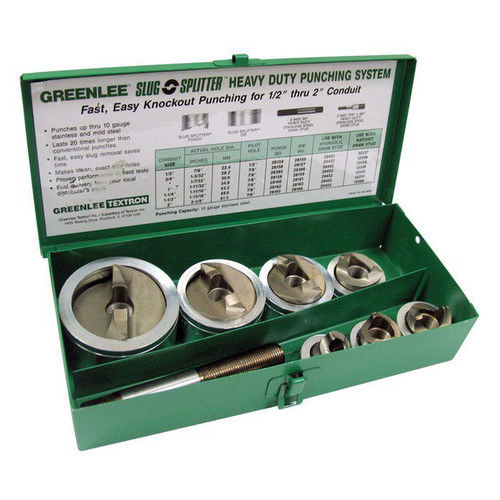Factory-Reconditioned Greenlee FCE7307 1/2 in. SlugSplitter SC Knockout Punch Kit (Refurbished)