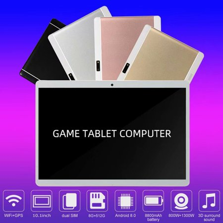 10.1inch 8G+512G WiFi Tablet Android 8.0 HD 1960 x 1080 Bluetooth Game Tablet Computer With Dual Camera Support Dual SIM Card And Dual Standby Rose Gold - image 2 of 9