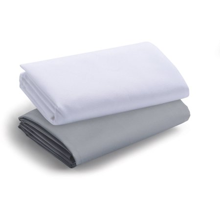 Graco Playard Pack N Play Travel Lite Crib Sheets  Quarry Bright White  2 Pack