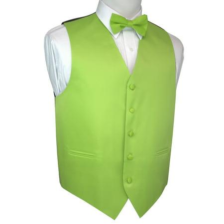Italian Design, Men's Tuxedo Vest, Bow-tie - Lime