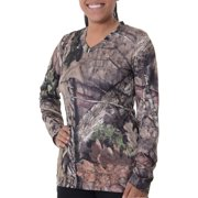 Women's Realtree & Camo Long Sleeve V-Neck Performance Tee