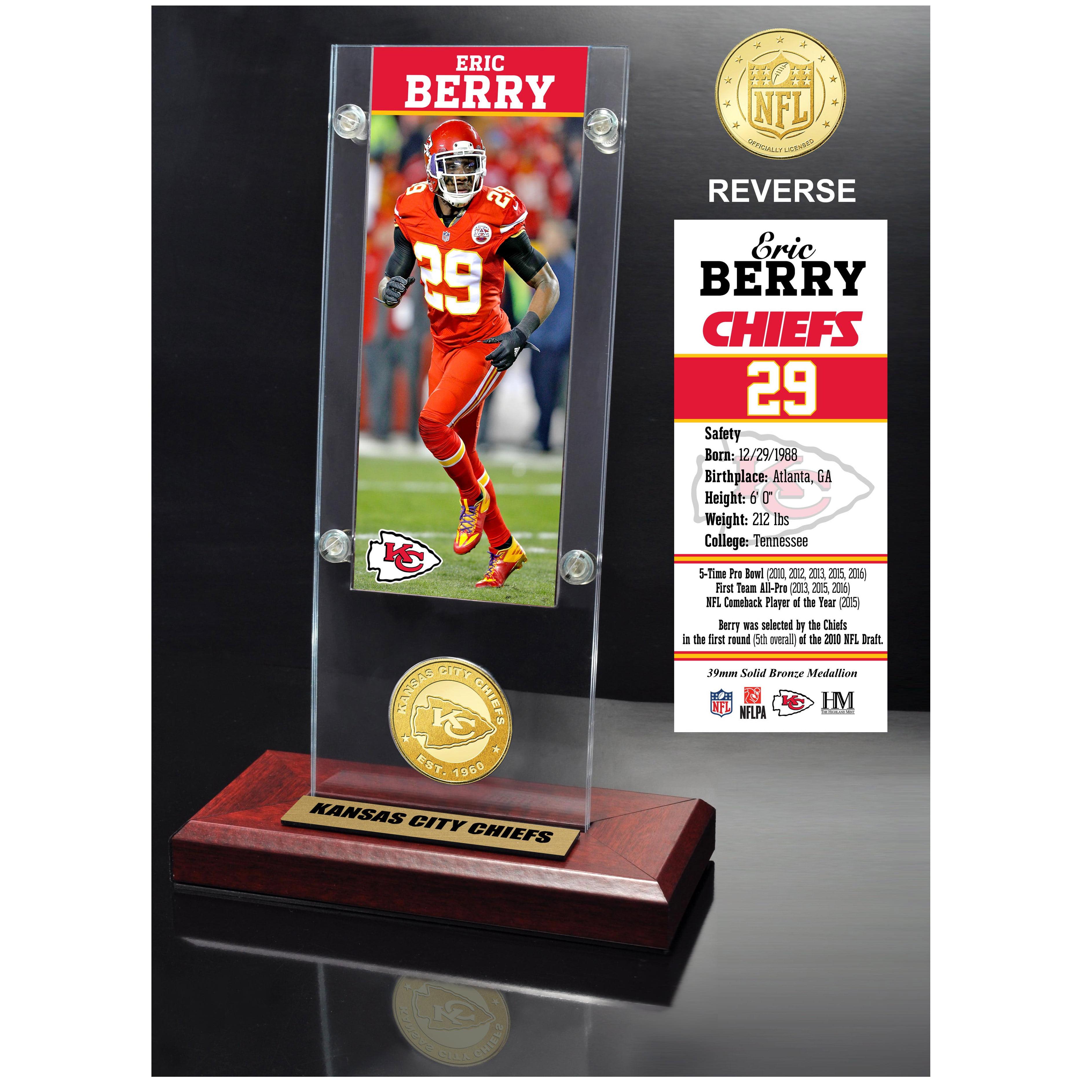 "Kansas City Chiefs Highland Mint Eric Berry 3.5"" x 9"" Player Ticket Acrylic - No Size"