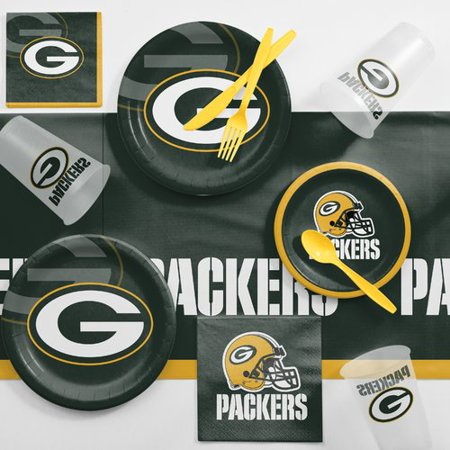 Green Bay Packers Game Day Party Supplies Kit (Packer Party Supplies)