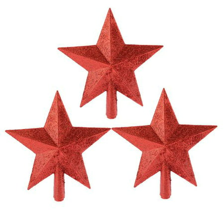 AkoaDa Christmas Tree Top Star Ornament Plastic Creative Five-Pointed Star Ornament Gift for Home Christmas Decoration ()