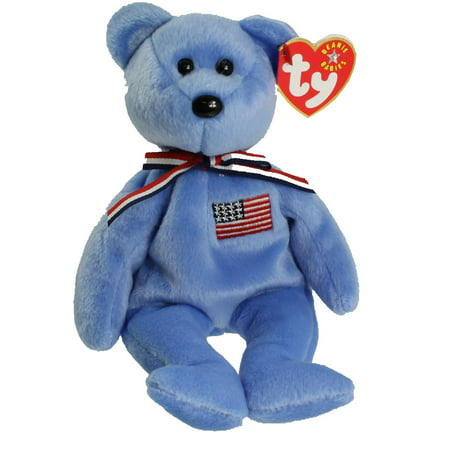 TY Beanie Baby - AMERICA the Bear (Blue Version) (8.5 inch)
