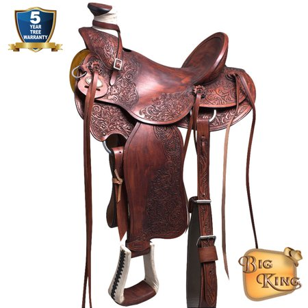 Western Horse Saddle Leather Wade Ranch Roping Mahogany