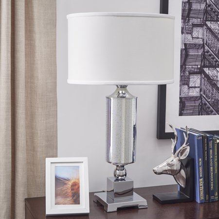 iNSPIRE Q Galaxy LED Starburst Chrome Pedestal Table Lamp by  Bold