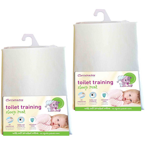 Clevamama Toilet Training Bed Mat, 2-Pack