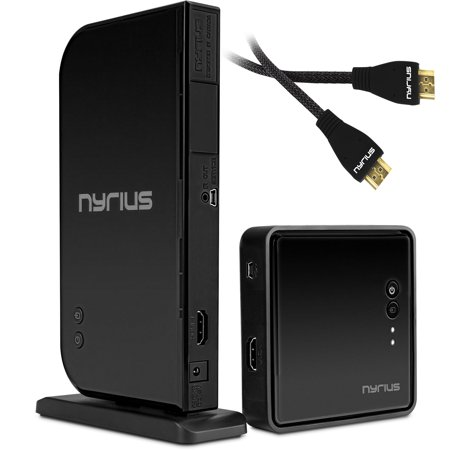 Bonus Hdmi Cable (Nyrius ARIES Home HDMI Digital Wireless Transmitter & Receiver With Bonus Additional HDMI Cable - 2 HDMI Cables Total )