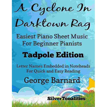 A Cyclone In Darktown Rag Easiest Piano Sheet Music for Beginner Pianists Tadpole Edition - eBook - Halloween Piano Music For Beginners