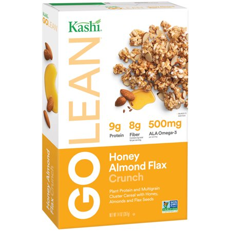 (2 Pack) Kashi Go Lean Crunch Breakfast Cereal, Honey Almond Flax, 14 Oz for $<!---->