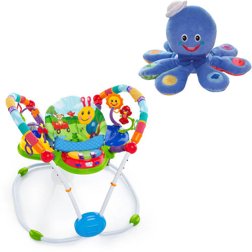 Baby Einstein Neighborhood Friends Activity Jumper Special Edition with BONUS Octoplush Toy