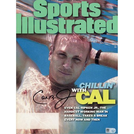 Cal Ripken Jr Baltimore Orioles Autographed August 7  1995 Sports Illustrated